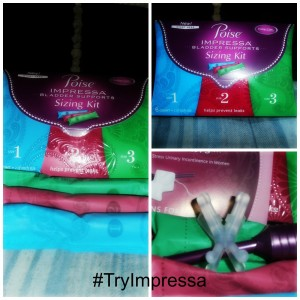 New Poise Impressa Sizing Kit! #TryImpressa