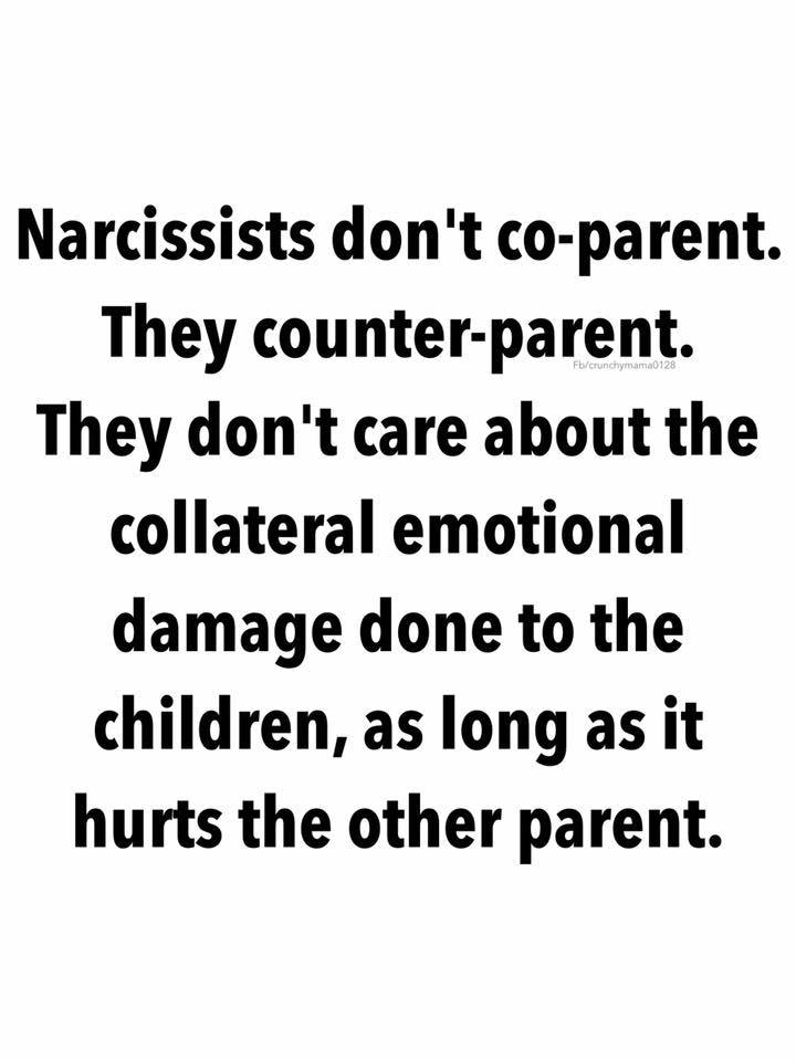 Some Parents are NEVER given the chance by Narcissistic Parents!